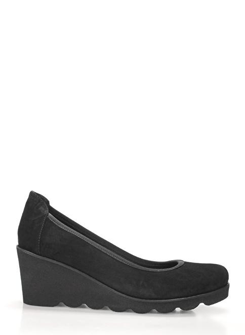 İnci Dolgu Topuklu Ayakkabı Siyah